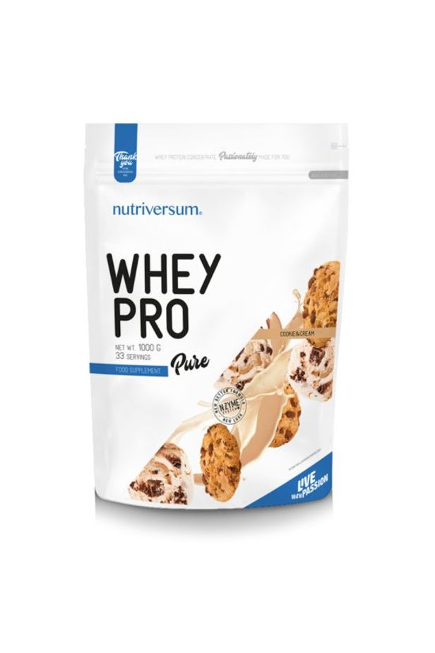 Nutriversum - PURE - Whey Pro 1000 g - cookie&cream