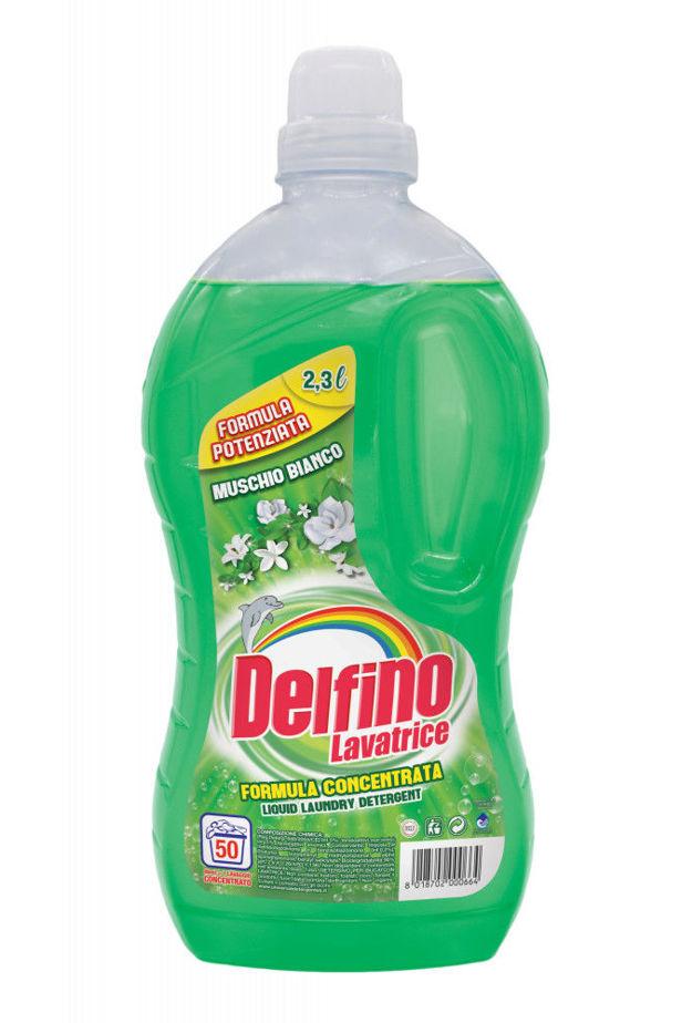 Delfino folyékony mosószer fehér mohavirág 50 mosás (muschio bianco) 2,3l