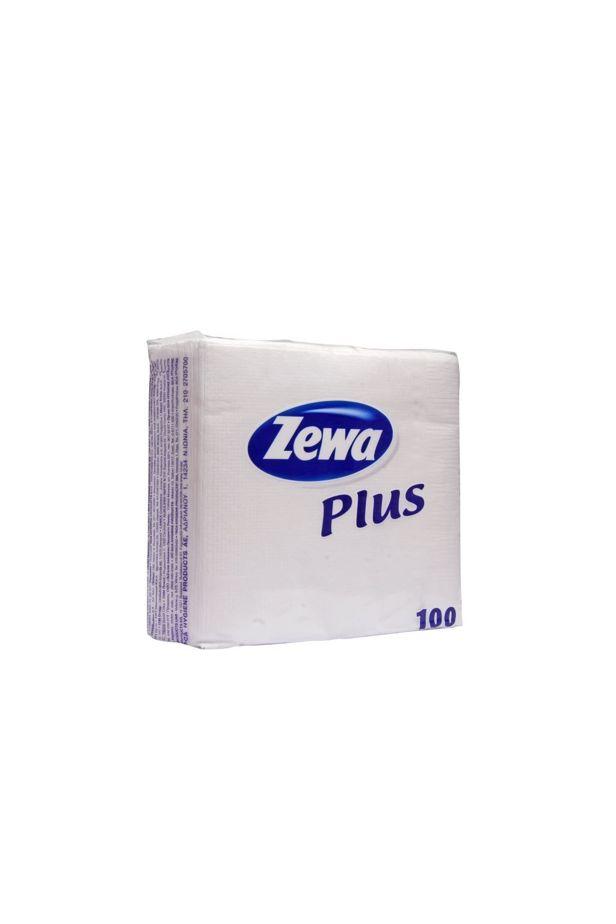 Zewa szalvéta 100db-os fehér /10494/