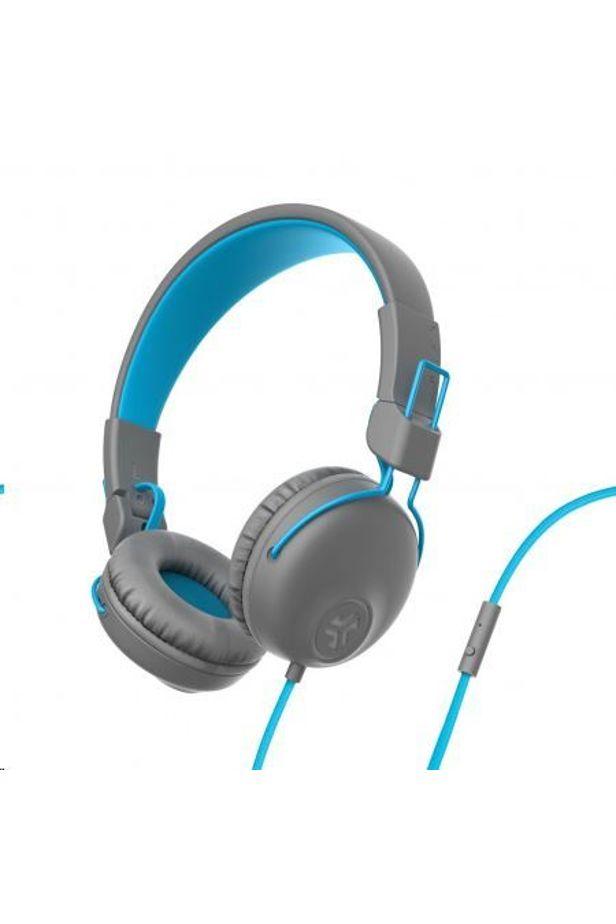 JLAB Studio Wired On Ear Headphones Gray-Blue (IEUHASTUDIORGRYBLU)