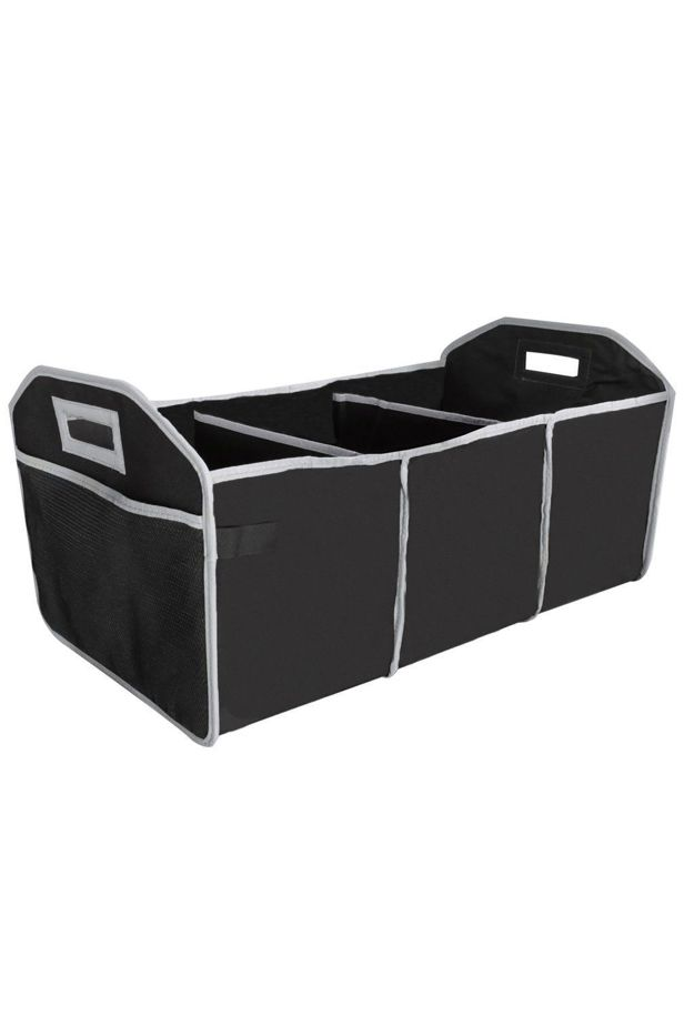 Multi-compartment storage in the boot, load capacity 18 kg, with heat storage compartment