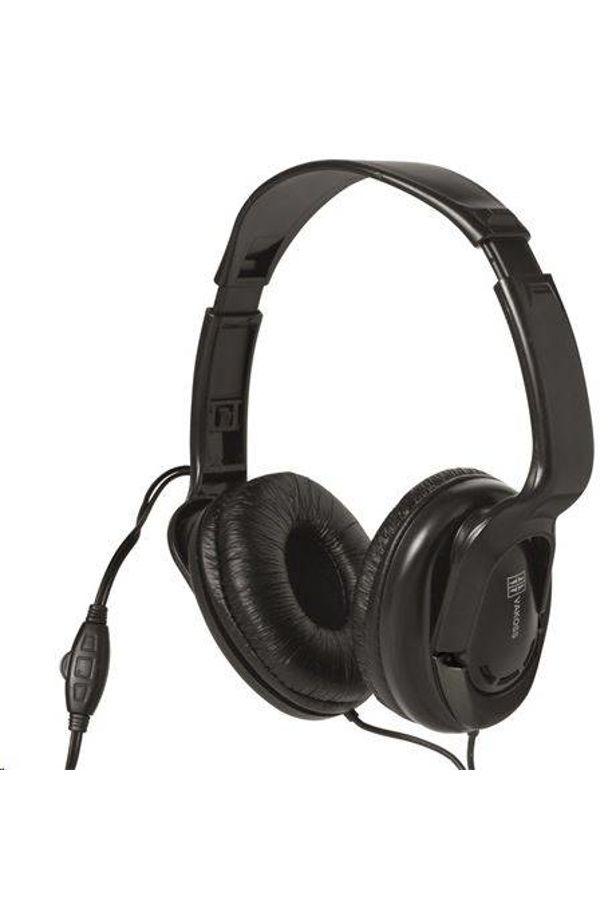 Somogyi Sztereo fejhallgató, hangerőszabályzóval, 5 m vezeték fekete /HPH7/
