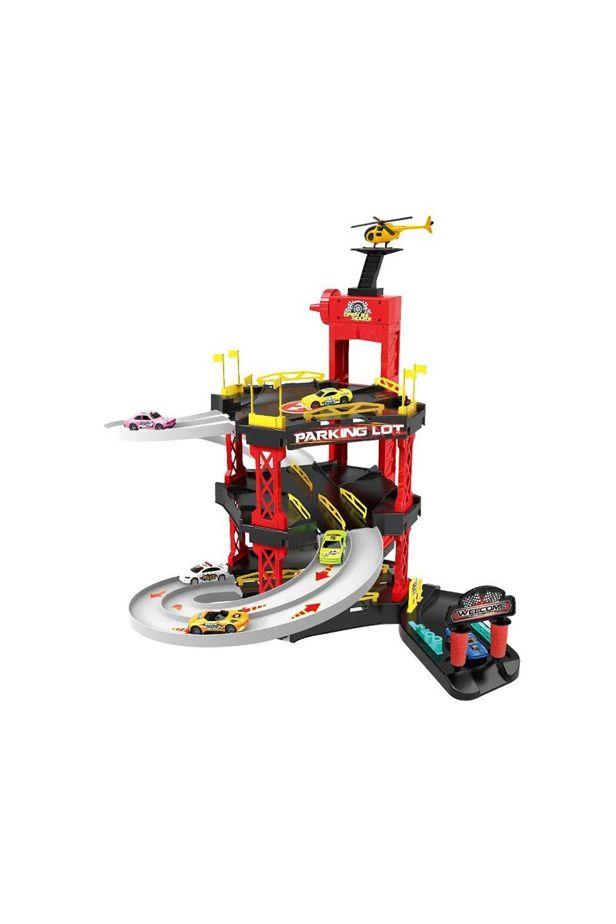Toy parking lot, 55 parts