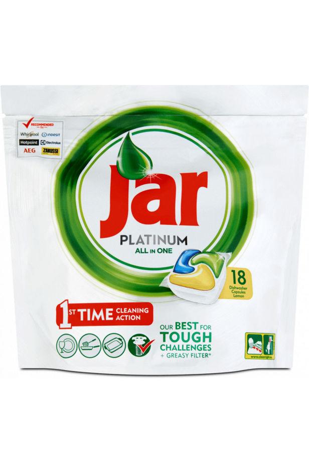 Jar Platinum All in One dishwasher capsules 18pcs 268g