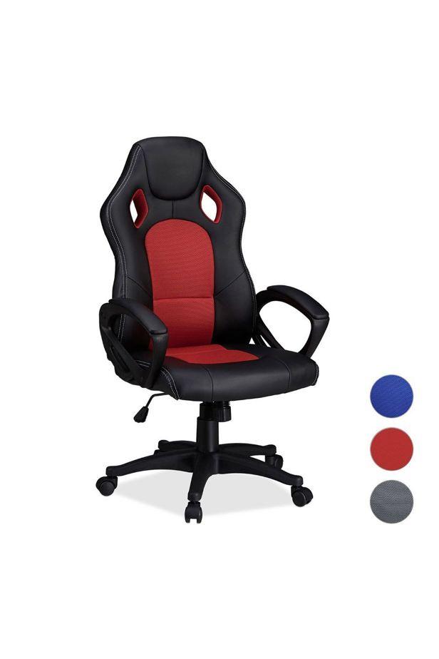 Gamer chair Basic, 3 colors - Piros