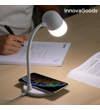 LED-es lámpa hangszóróval és vezeték nélküli töltővel Akalamp InnovaGoods