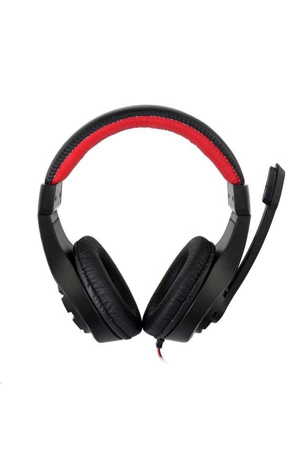 Gembird GHS-01 Gaming mikrofonos fejhallgató fekete-piros