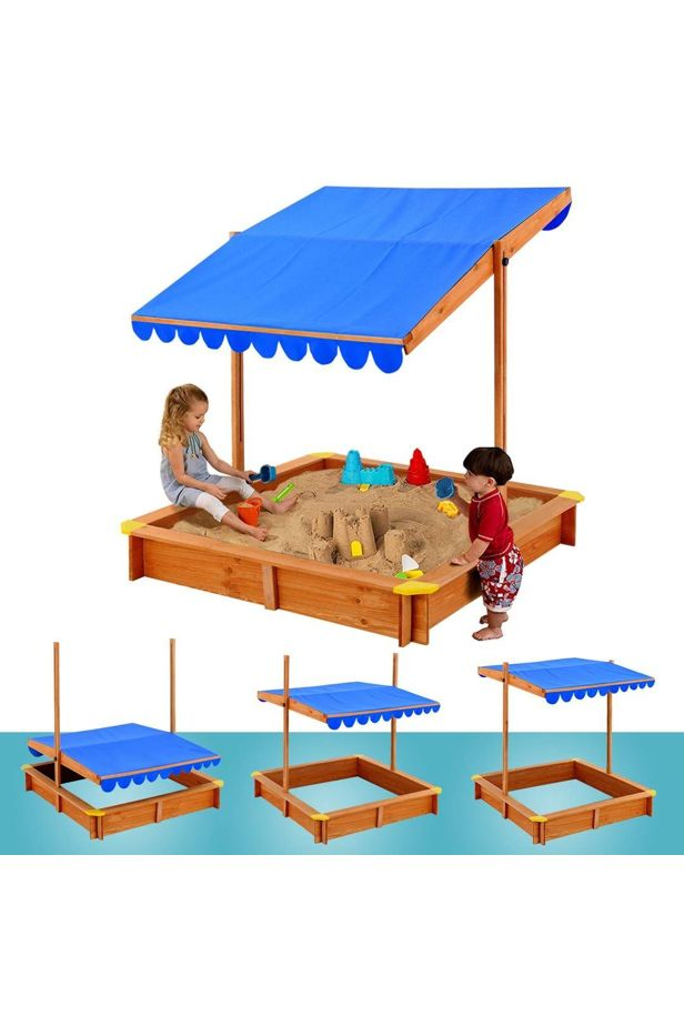 Sandpit with shading roof