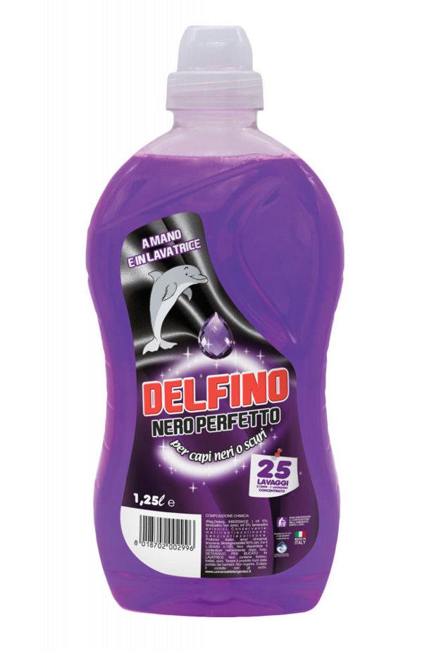 Delfino liquid detergent black and dark textile 25 washes (nero perfetto) 1.25l